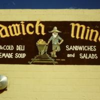 Sandwich Mine Sign in Idaho Springs