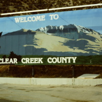 Welcome to Clear Creek County Sign