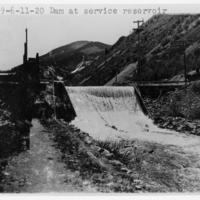 Dam at service reservoir