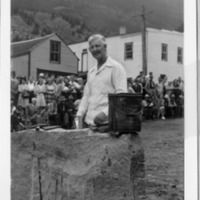 Albert Frank Ecker of Central City, Rock Drilling Champion in Georgetown, Colorado