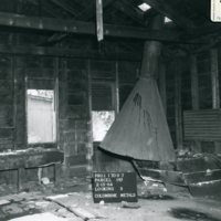 Interior of a building at Lawson with old equipment
