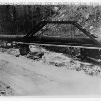 Bridge for penstock pipe line near service reservoir